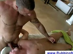 Oral pleasure with a gay masseuse