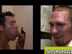 Jizzed by straight guy at gloryhole