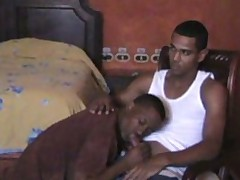 young black guy letting his neighbor have a taste