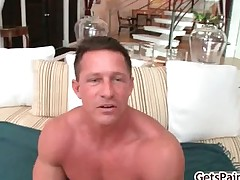 Mature muscle guy sucking black cock part3