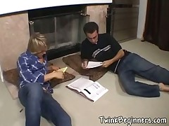 Two sexy teen guys in hardcore video