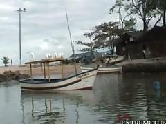 Bareback Latina Boat Fun