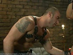 Spencer Reed takes his real-life partner Phillip Aubrey on a BDSM