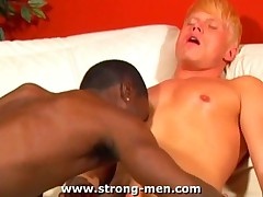 Sucking a Huge Black Cock