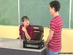Gay Teacher Fantasy Comes True 1