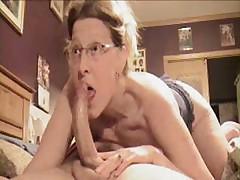 Amateur mature hot blow