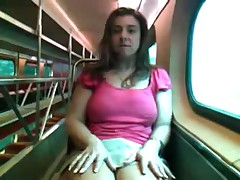 Alix Lakehurst masturbates on a train