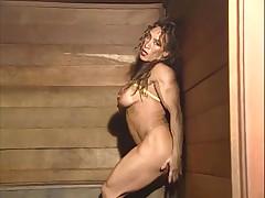 Mature muscle alone in sauna