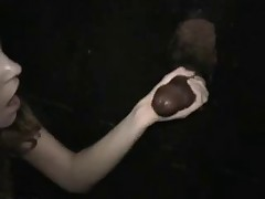Girl doesn't pass up a chance in a glory hole