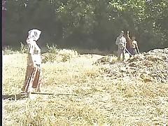 Turkish group on the farm