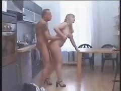 BBW poked in the kitchen