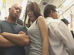 Big Boobs Girl fucked on a train