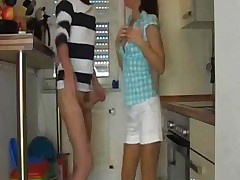 Hot Bodied Teen Fucked And Facialised In The Kitchen !