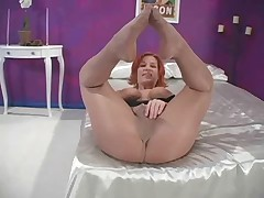Ruby Jewel nylon footjob