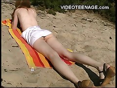 18 years old teen nudist at beach