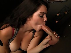 Alison tyler slurps at gloryhole