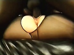 BBW in Pantyhose gets cream pie from Black cock