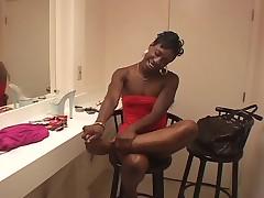 Ebony Girl Footjob 6