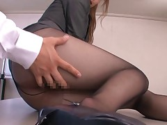 Bukkake Black pantyhose(censored)