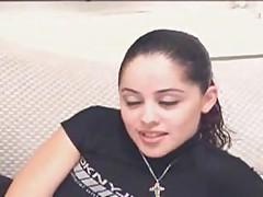 Cute goth girl fucked by dildo