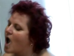 Fat BBW granny fucked in the kitchen