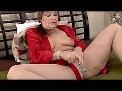 Mature Pantyhose Fingering