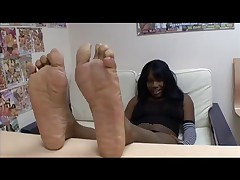 Thalia Tate Gives Footjob Then Sucks And Fucks