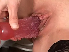 Mom treats her milf pussy to toys