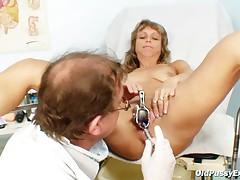 Vladimira mature old pussy speculum gyno exam