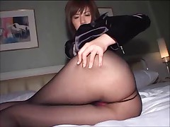 Japanese pantyhose fuck part 1