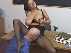 Teacher fucked in pantyhose - www.Fap69.com