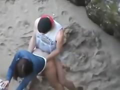 Cogiendo en la playa