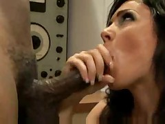 Andy San Dimas fucking a big black cock