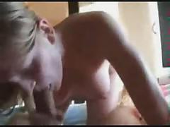 Hot bush-league pregnant blonde blows and swallows