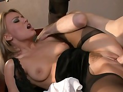 Anal creampie in pantyhose (Holly Wellin)