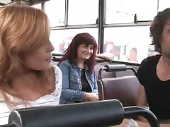 A man is fucking hottest girl in Bus latest one