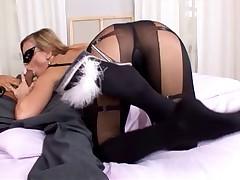 Nasty Girl Footjob and Hot Anal