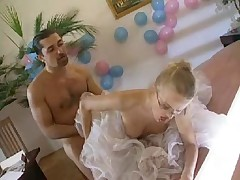 Blonde European Bride With Glasses - Anal