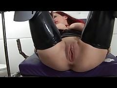 Gyno chair redhead fetish