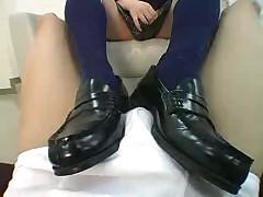 Double Schoolgirl Footjob