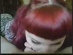 Redhead cumeating fat emo