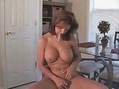 MILF blowing and smoking