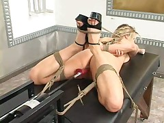 Bondage and fucking machines Harmony Rose