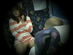 Teen Woman caught masturbating in train