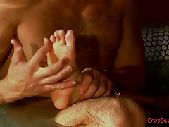 Erotic foot massage
