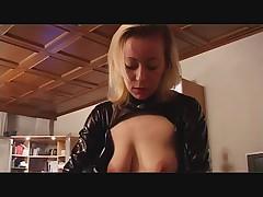 German Girl friend and her bi Slave