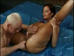 Donita Dunes - Oil Wrestling and Fucking