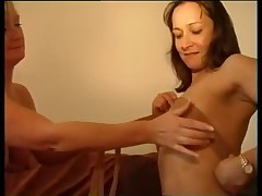 Old lesbian in pantyhose PJM
