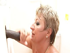 Mature Babette - Gloryholed!