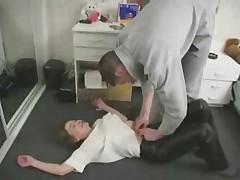 Mom Son's friend Sex in the Kitchen
